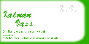 kalman vass business card